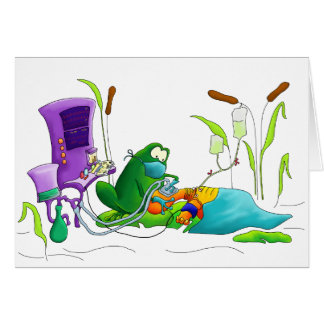 Anesthesia Doctor Frog Card