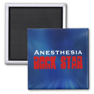 Anesthesia RockStar Square Magnet