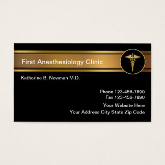 Anesthesiologist Business Cards