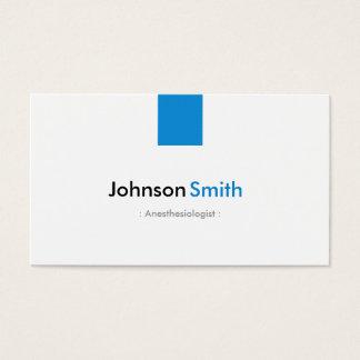 Anesthesiologist - Simple Aqua Blue Business Card