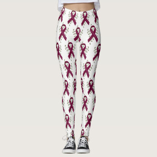 Aneurysm Awareness Ribbon Leggings