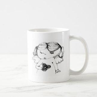 Ange avec le coeur mug blanc