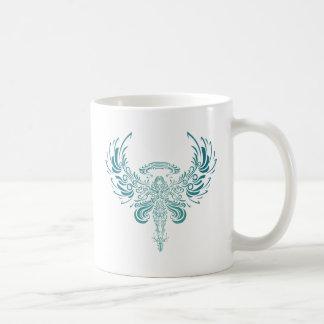 Ange bleu mug blanc