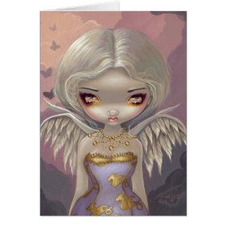 Ange dans la carte de voeux lilas