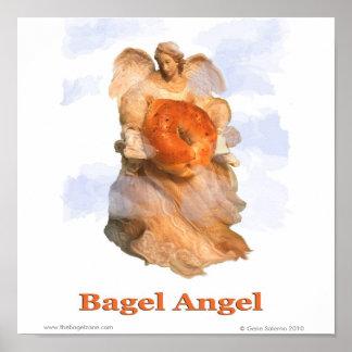 Ange de bagel poster
