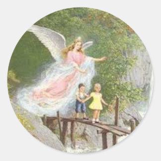 Ange de Dieu mon gardien cher ! Sticker Rond