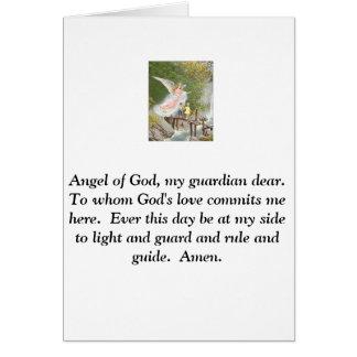 Ange de Dieu mon gardien cher ! Carte De Vœux