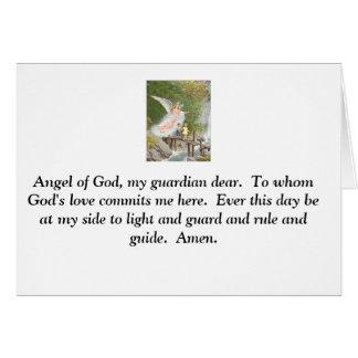 Ange de Dieu mon gardien cher ! Cartes De Vœux