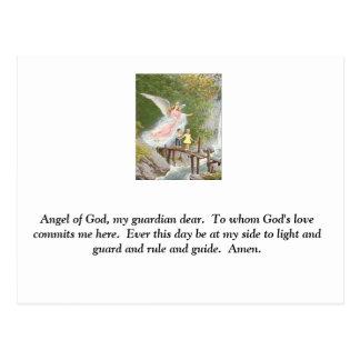 Ange de Dieu mon gardien cher ! Carte Postale