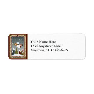 Ange de Noël (2) étiquettes de SM Étiquettes D'adresse Retour