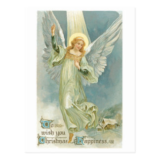 Ange démodé Gloria de Noël Cartes Postales