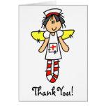 Ange d'infirmière carte de vœux