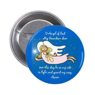Ange d'O de Dieu mon gardien cher Macaron Rond 5 Cm