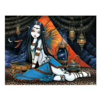 Ange féerique sage tribal céleste Poscard de Santh Carte Postale