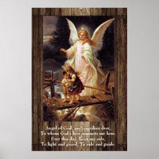 Ange gardien, enfants, pont affiches