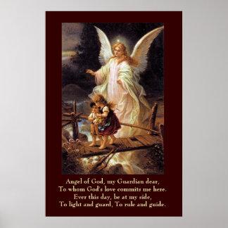 Ange gardien, enfants, pont posters