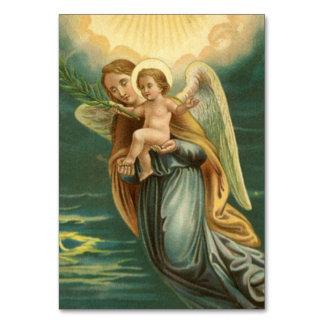 Ange gardien et bébé Jésus de Noël