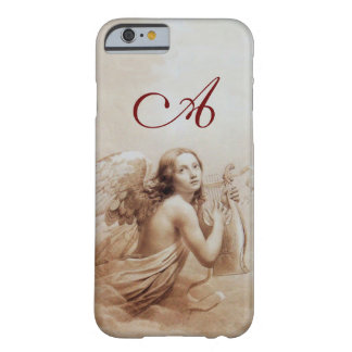 ANGE JOUANT LYRA AU-DESSUS du monogramme brun de Coque Barely There iPhone 6