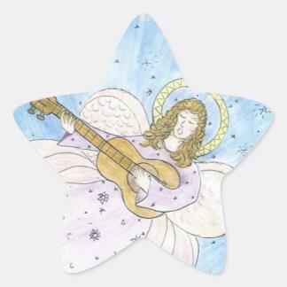 Ange musical sticker étoile