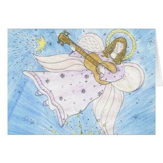 Ange musical carte de vœux