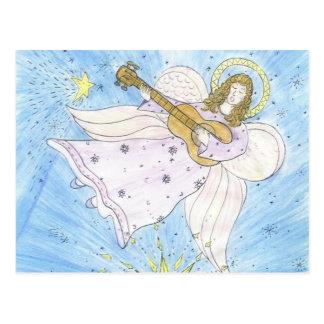 Ange musical carte postale