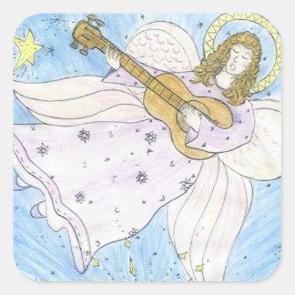 Ange musical sticker carré