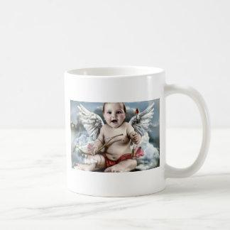 Ange potelé mug blanc