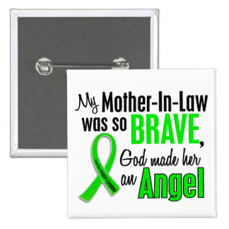 Angel 1 Non-Hodgkins Lymphoma Mother-In-Law 2 Inch Square Button