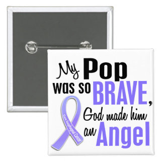 Angel 1 Pop Esophageal Cancer 2 Inch Square Button