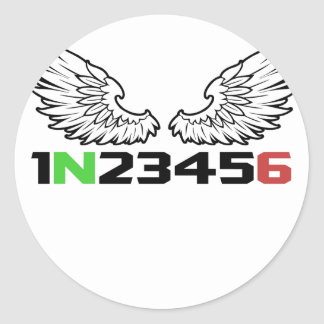 angel 1N23456 Classic Round Sticker