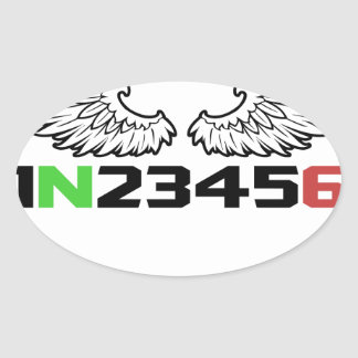 angel 1N23456 Oval Sticker
