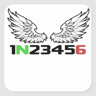angel 1N23456 Square Sticker