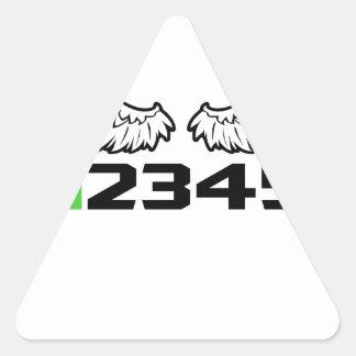 angel 1N23456 Triangle Sticker