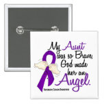 Angel 2 Aunt Pancreatic Cancer 2 Inch Square Button
