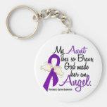 Angel 2 Aunt Pancreatic Cancer Key Chain