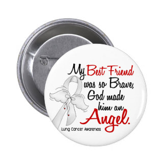 Angel 2 Best Friend Lung Cancer 2 Inch Round Button