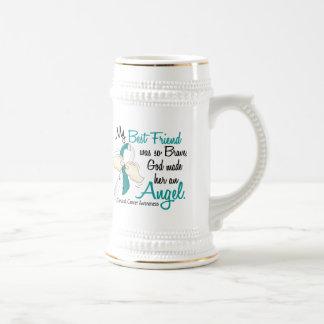 Angel 2 Cervical Cancer Best Friend 18 Oz Beer Stein