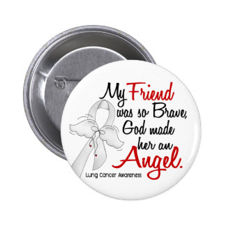 Angel 2 Friend Lung Cancer 2 Inch Round Button