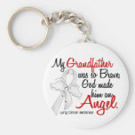 Angel 2 Grandfather Lung Cancer Key Chains