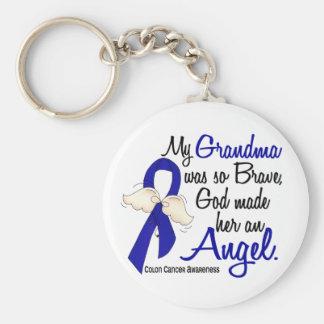 Angel 2 Grandma Colon Cancer Key Chains