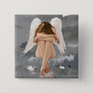 Angel! 2 Inch Square Button