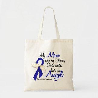 Angel 2 Mom Colon Cancer Budget Tote Bag