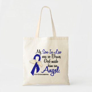 Angel 2 Son-In-Law Colon Cancer Canvas Bags