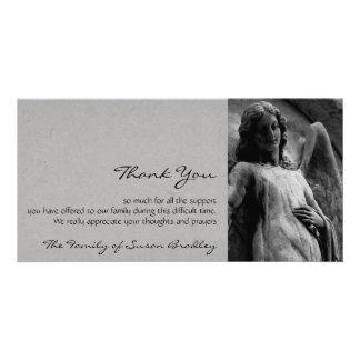 Angel 2 Sympathy Thank You Card Custom Photo Card