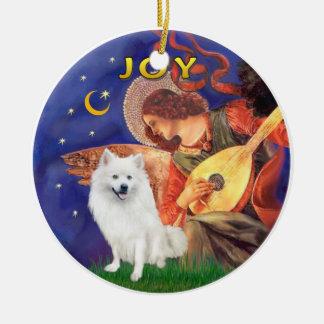 Angel 3 - American Eskimo Dog Ceramic Ornament