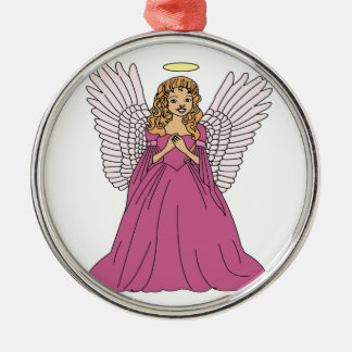 Angel 3 metal ornament