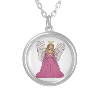 Angel 3 silver plated necklace