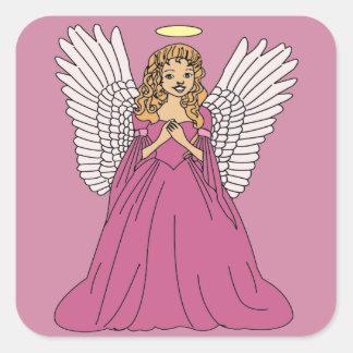 Angel 3 square sticker