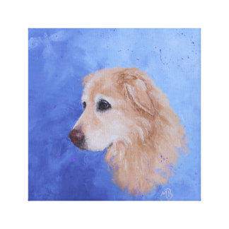 Angel, a Golden Retriever Canvas Print