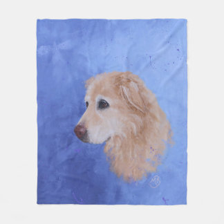 Angel, a Golden Retriever Fleece Blanket